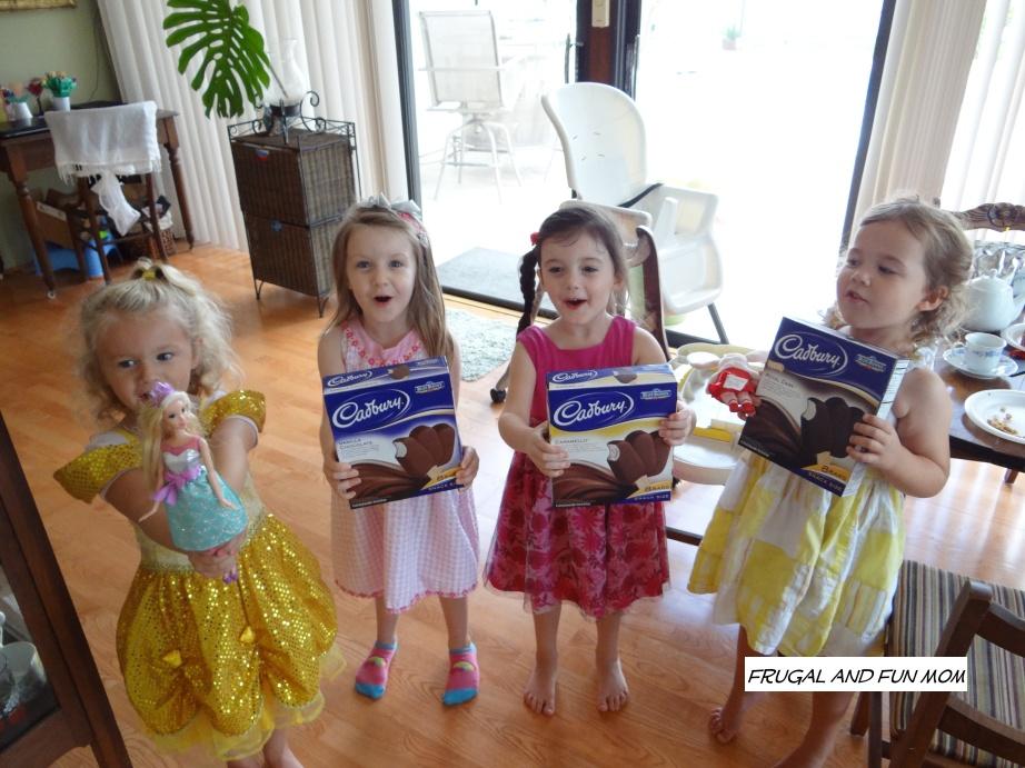 Children and Cadbury Ice Cream Bars