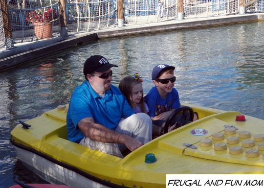 A fun boat ride with Dad at Legoland
