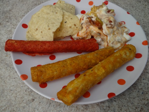 El Monterey Taquitos Paired with 6 Layer Bean Dip