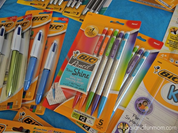 Teacher Appreciation Basket Bic Pens and Pencils