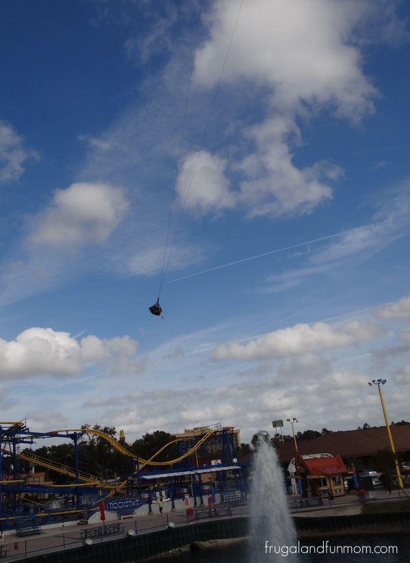 Fun Spot Kissimmee Florida SkyCoaster Flying