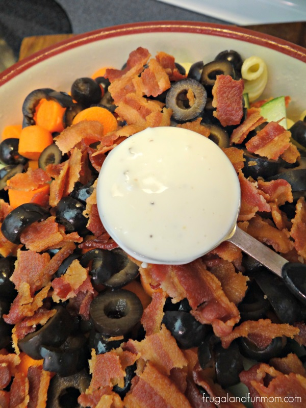 Bacon Pasta Salad Ingredients with Naturally Fresh