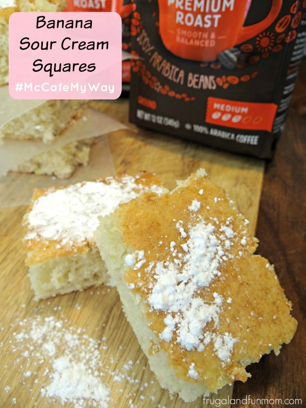 Banana Sour Cream Squares