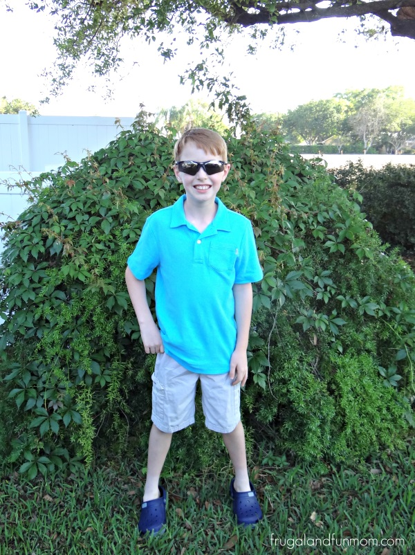Boy wearing spring OshKosh Polo