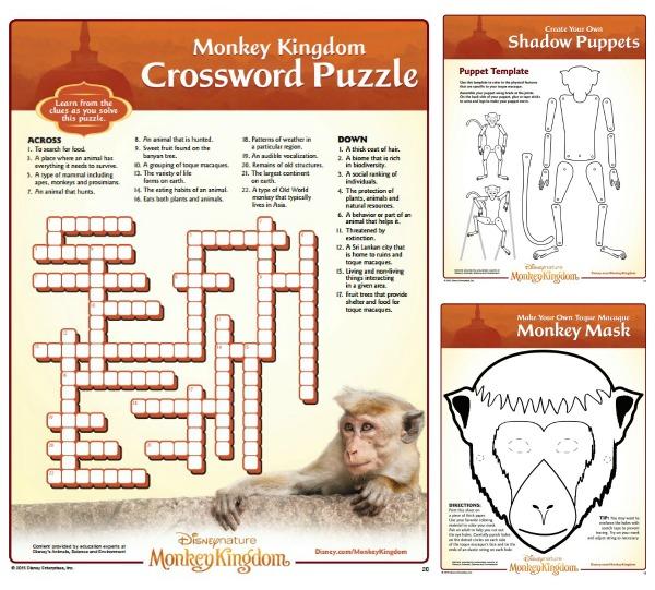 Monkey Kingdom Activity Sheets