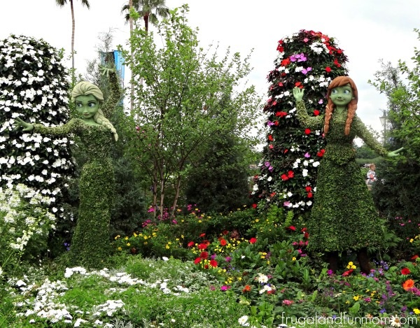 Elsa and Anna at EPCOT International Flower & Garden Festival