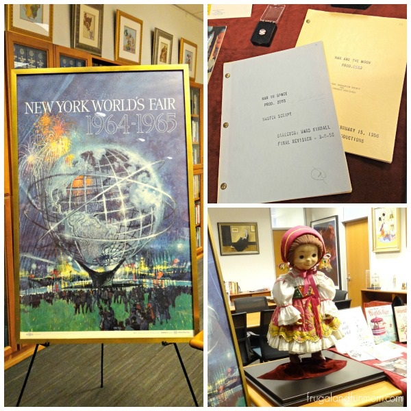 Items from the 1964 1965 World's Fair at Walt Disney Archives