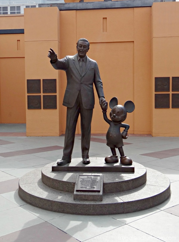 Walt Disney and Mickey Statue at the Studio