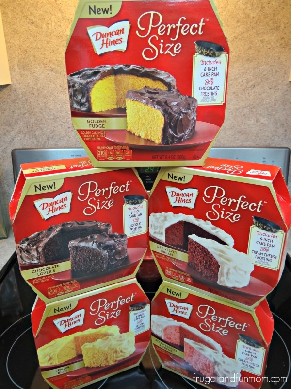 Varieties of Duncan Hines Perfect Size Cakes