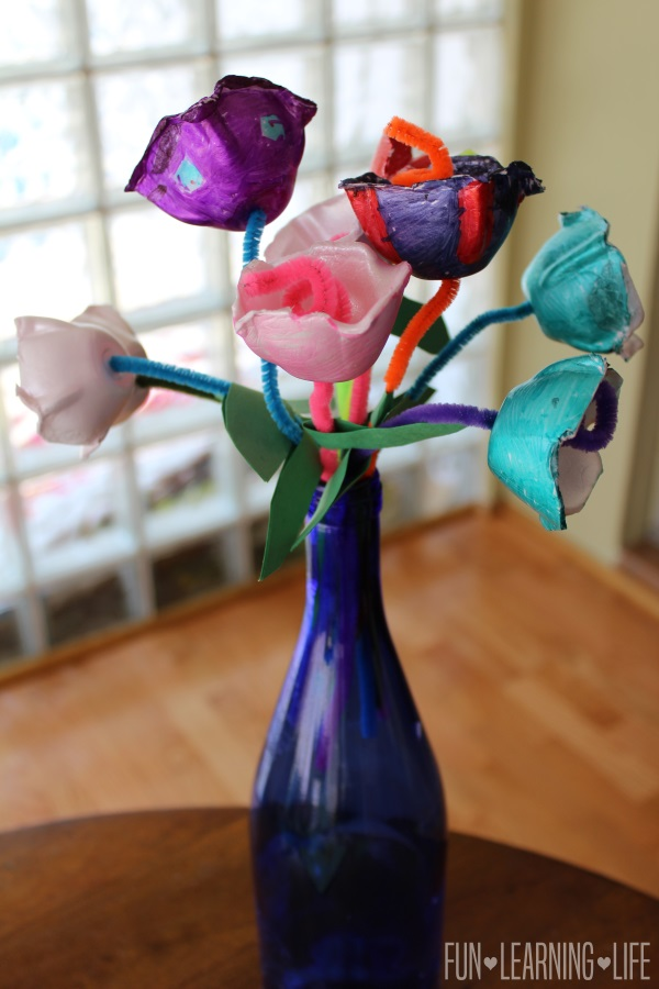Bouquet of Egg Carton Flowers
