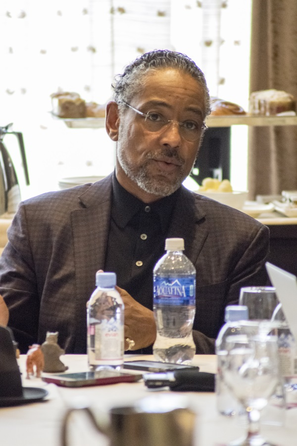 """BEVERLY HILLS - APRIL 04 - Actor Giancarlo Esposito during the """"The Jungle Book"""" press junket at the Beverly Hilton on April 4, 2016 in Beverly Hills, California. (Photo by Becky Fry/My Sparkling Life for Disney)"""