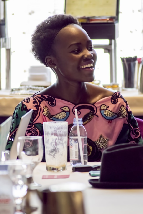 """BEVERLY HILLS - APRIL 04 - Actress Lupita Nyong'o during the """"The Jungle Book"""" press junket at the Beverly Hilton on April 4, 2016 in Beverly Hills, California. (Photo by Becky Fry/My Sparkling Life for Disney)"""