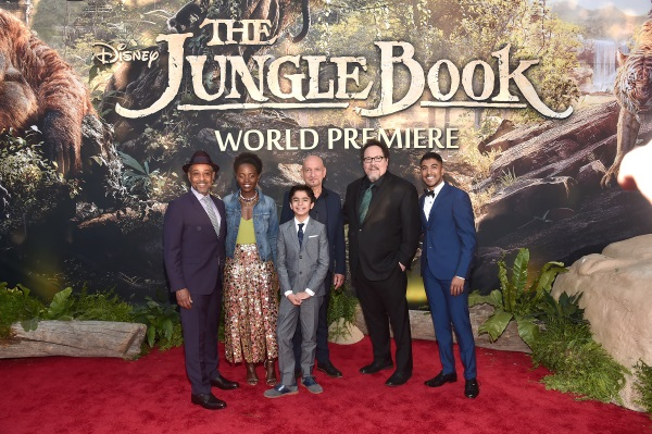 "attends The World Premiere of Disney's ""THE JUNGLE BOOK"" at the El Capitan Theatre on April 4, 2016 in Hollywood, California."