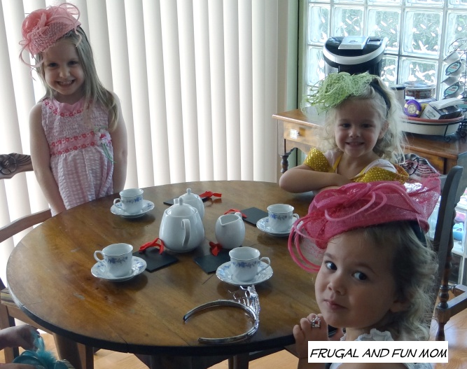Girls at the tea party