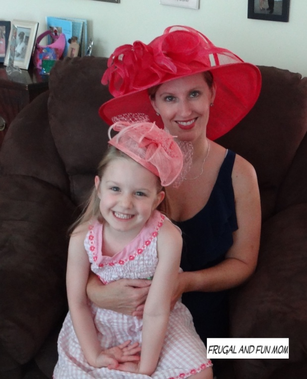 Mother and Daughter at Tea Party and attire