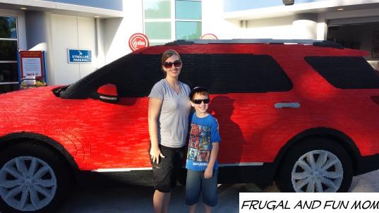 A Ford Car Replica at Legoland