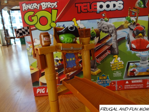 Angry Birds GO! Telepods Pig Rock Raceway Set Pirate Pig