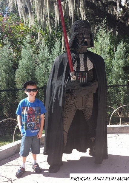 Hanging with Darth Vader at Legoland Florida