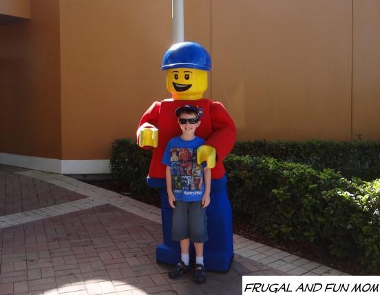 Meeting a LEGO Guy at Legoland