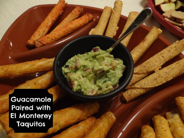 Guacamole Paired with El Monterey Taquitos