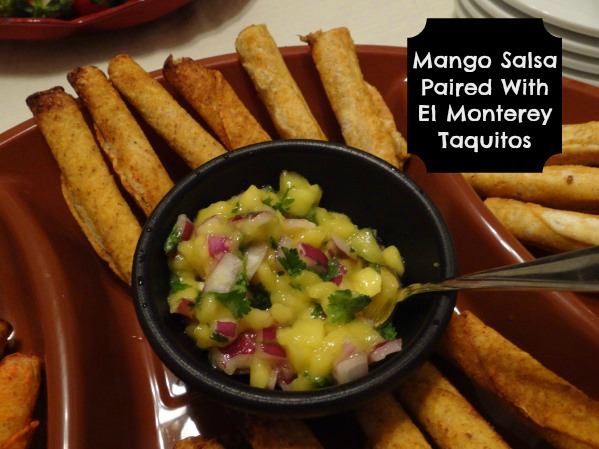 Mango Salsa Paired With El Monterey Taquitos