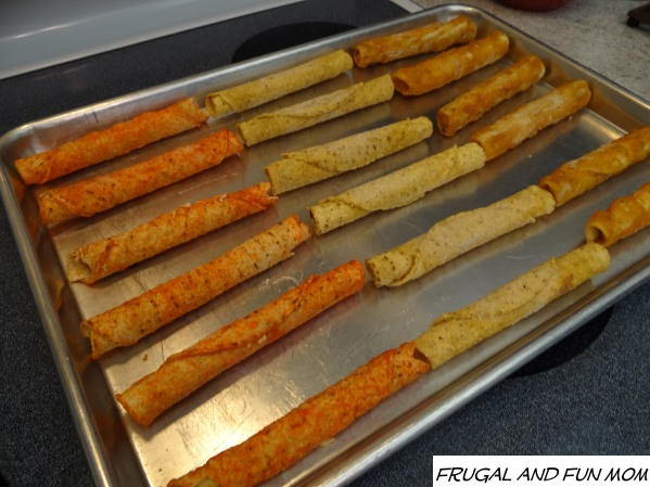 Varieties of El Monterey Taquitos getting ready for the oven