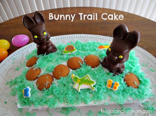 Bunny Trail Cake with Green Coconut Grass
