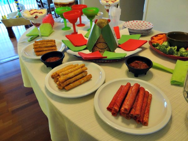 El Monterey Taquitos on the table at Cinco de Mayo Party