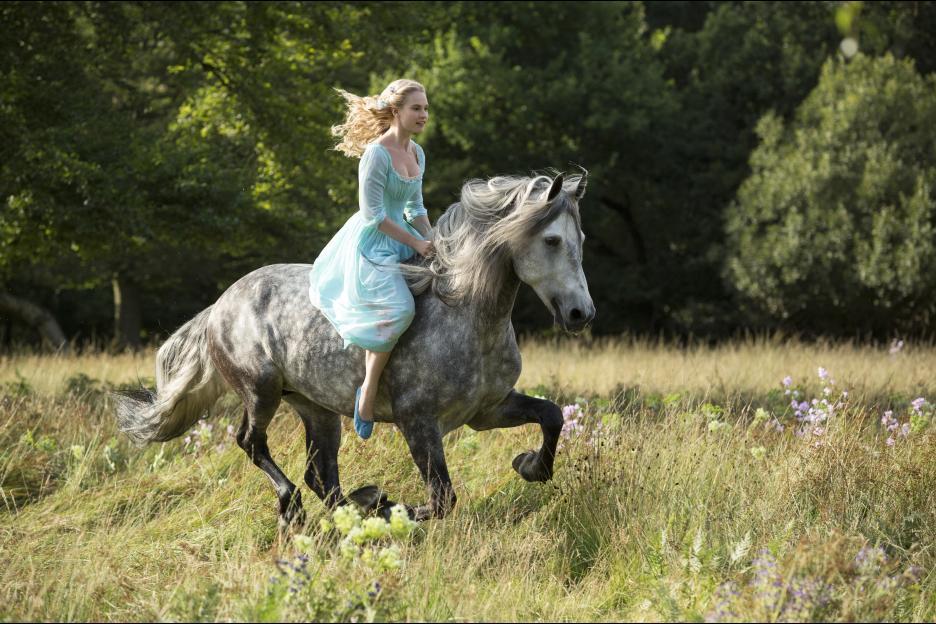 Cinderella on a horse for new film movie scene Disney #Cinderella