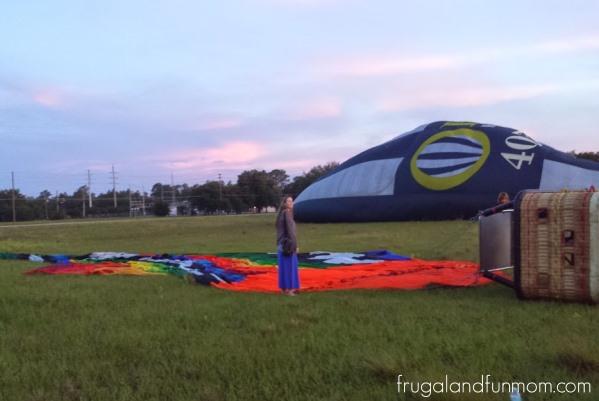 Hot Air Balloon Ride Orlando Setup 2