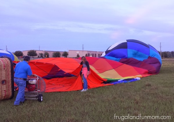 Hot Air Balloon Ride Orlando Setup 3