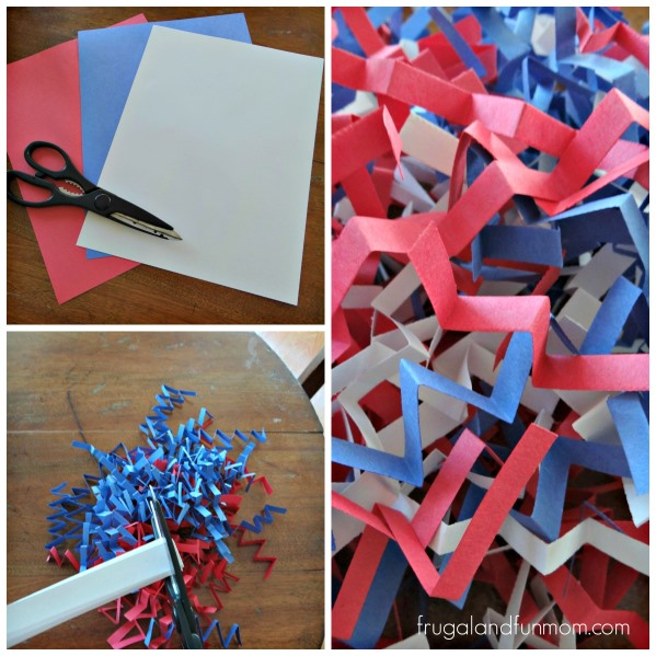 Patriotic Fill Confetti #DIY #RedWhiteBlue #Patriotic #July4th