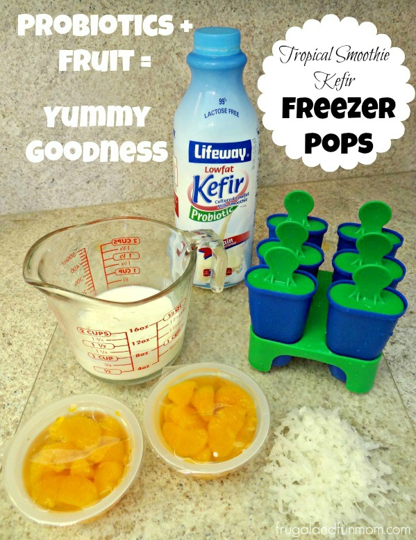 Tropical Smoothie Kefir Freezer Pops! 3 Ingredient Recipe! #KefirCreations #Collectivebias #Shop
