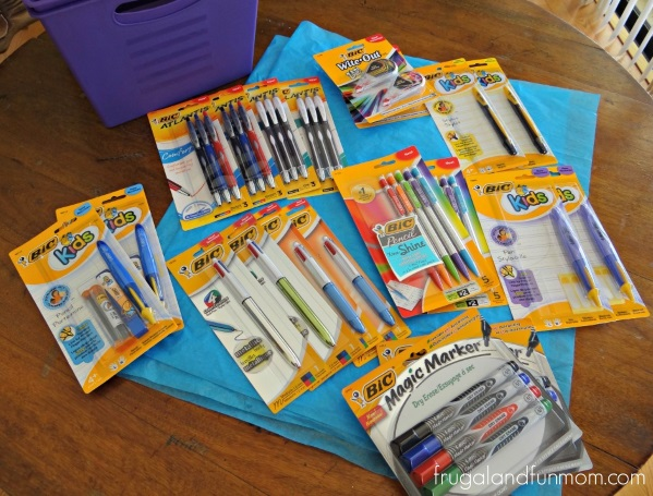 Teacher Appreciation Basket with Bic Pen Products