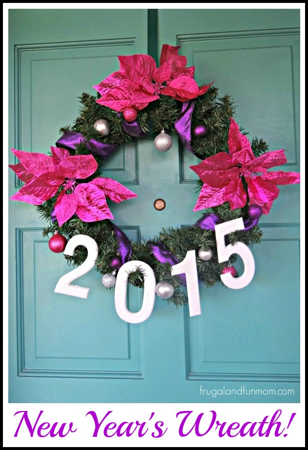 New Years Wreath Homemade DIY