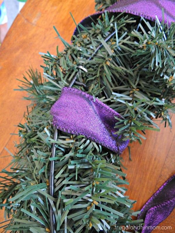 New Years Wreath Ribbon