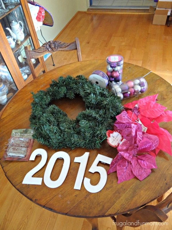 Supplies for New Years Wreath