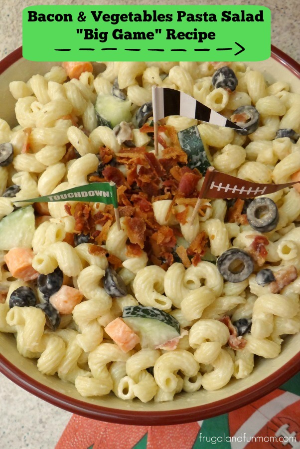 Bacon and Vegetable Pasta Salad Big Game Recipe Photo