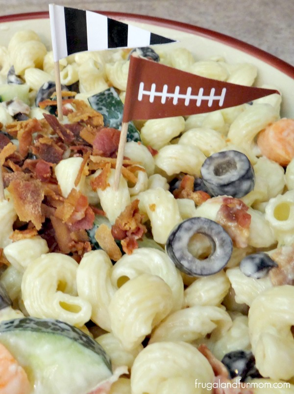 Bacon and Vegetables in Pasta Salad Recipe