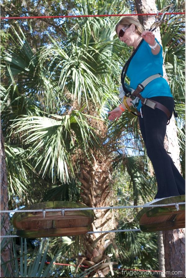 Balancing and Zip Lining at Zoom Air in Orlando