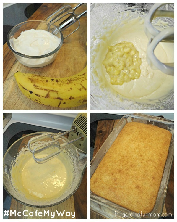 Recipe for Banana Sour Cream Squares