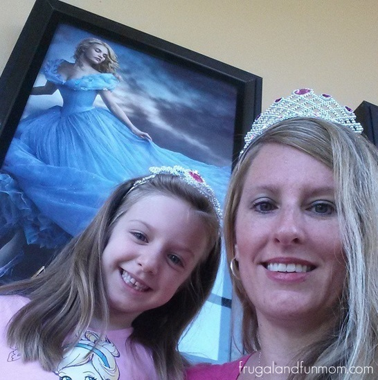 Seeing Cinderella at the movie theater