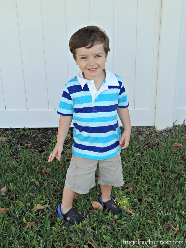 Toddler boy in OshKosh BGosh Polo Tee
