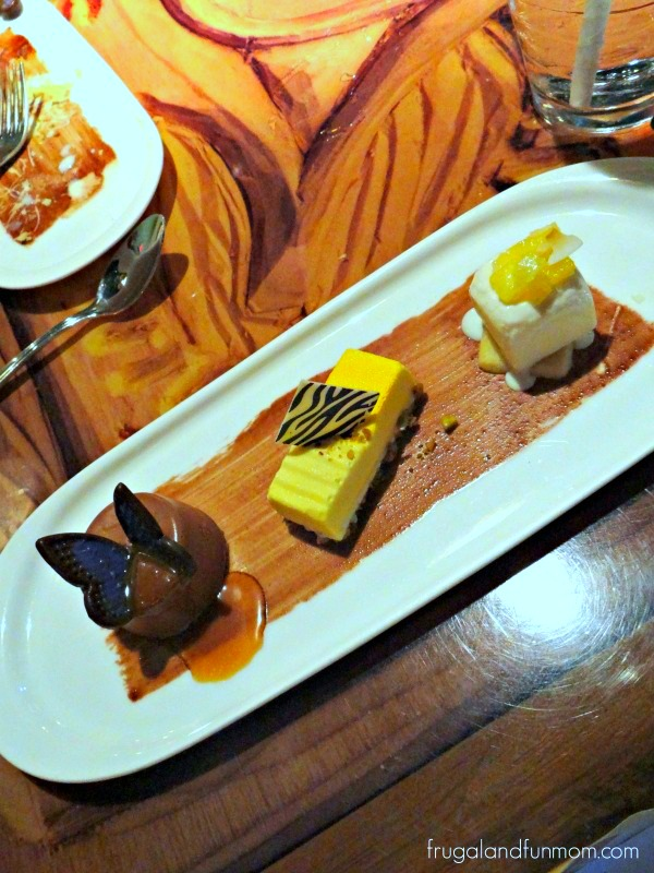 Dessert Trio at Sanaa Animal Kingdom