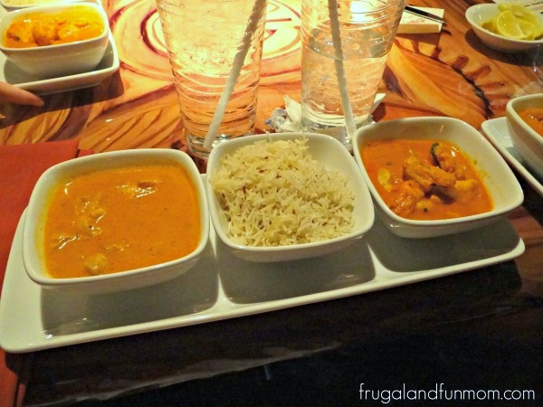 Goan Seafood Curry, Butter Chicken with Basmati Rice