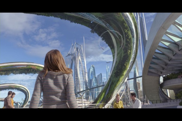 Britt Robertson entering Tomorrowland