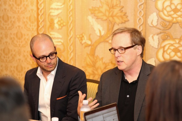 Director Producer Writer Brad Bird and Producer Writer Damon Lindelof Tomorrowland