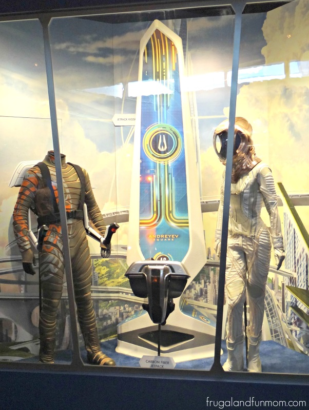 Futuristic Suits at Tomorrowland Exhibit in Disneyland