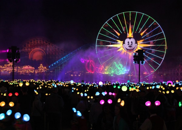'WORLD OF COLOR Ð CELEBRATE!' (ANAHEIM, Calif.)Ñ The popular, nighttime spectacular 'World of Color' at Disney California Adventure park continues with the new 'World of Color Ð Celebrate!' This fun-filled presentation will take guests on an inspirational journey celebrating Walt Disney and his dream of Disneyland park. This story will be brought to life with fountains, animation and live-action film, lasers, special effects and a stirring musical score. Celebrating 60 years of magic, 'World of Color Ð Celebrate!' is one of three new, nighttime spectaculars that will immerse guests in the worlds of Disney stories like never before. The Diamond Celebration at the Disneyland Resort begins Friday, May 22, 2015. (Scott Brinegar/Disneyland Resort)