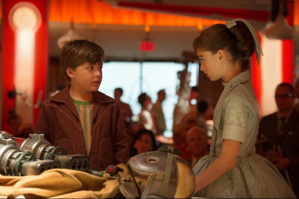 Young Frank Walker and Athena of Tomorrowland